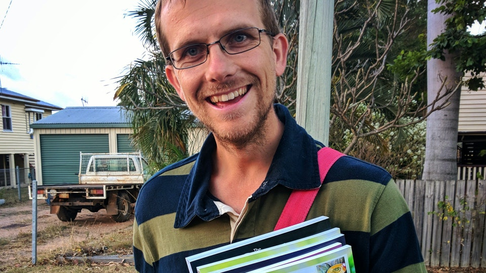 Andy canvassing in Gayndah